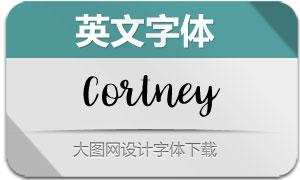 Cortney-Regular(英文字体)