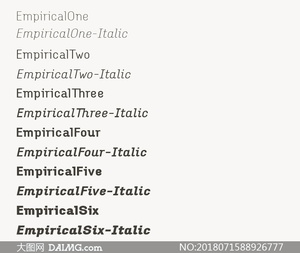 Empirical系列12款英文字体