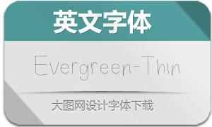Evergreen-Thin(英文字体)