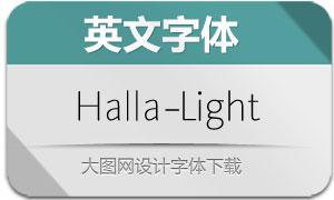 Halla-Light(英文字体)