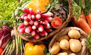 萝卜芦笋与土豆等蔬菜摄影高清图片