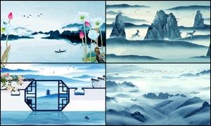 中国风古典广告背景设计矢量素材