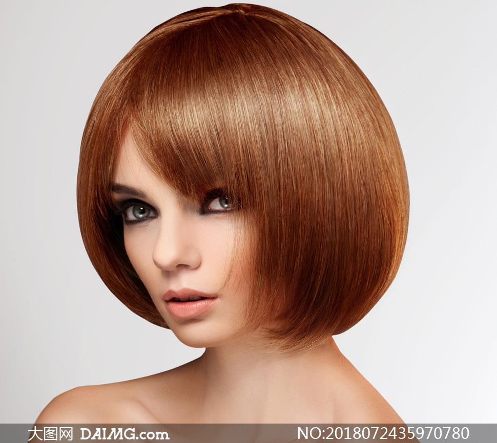 圆圆发型美女人物写真摄影高清图片