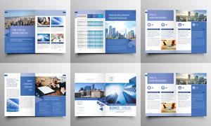 淡蓝色多用途画册设计创意矢量素材