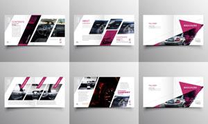 时尚版式汽车宣传画册页面矢量素材