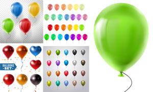 逼真质感五彩缤纷气球主题矢量素材