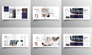汽车销售宣传画册页面设计矢量素材