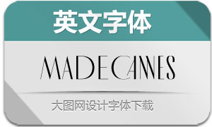 MADECannes-Regular(英文字体)