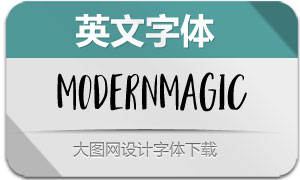 ModernMagic-Regular(英文字体)