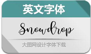 Snowdrop系列三款英文字体