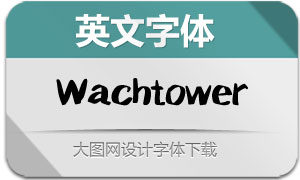 Wachtower-Regular(英文字体)