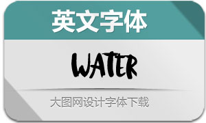 Water-Regular(英文字体)