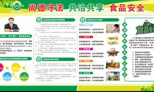 尚德守法食品安全宣传展板PSD素材
