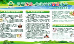 全国食品安全宣传周展板矢量素材