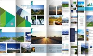 摄影作品画册设计模板矢量素材