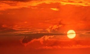 黄昏落日余晖自然风景摄影高清图片
