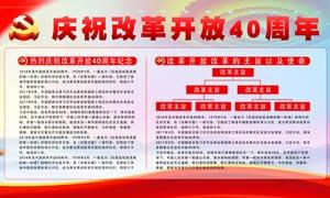 改革开放40周年宣传展板PSD素材