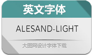 Alesand-Light(英文字体)