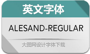 Alesand-Regular(英文字体)
