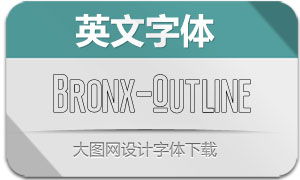 Bronx-Outline(英文字体)