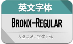 Bronx-Regular(英文字体)