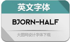 Bjorn-Halftone(英文字体)