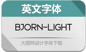 Bjorn-Light(英文字体)