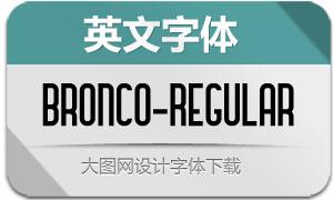 Bronco-Regular(英文字体)