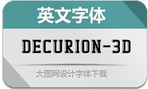 Decurion-3D(英文字体)