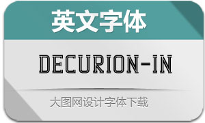 Decurion-Inline(英文字体)
