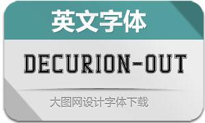 Decurion-Outline(英文字体)