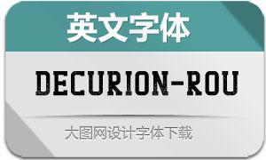 Decurion-Rough(英文字体)