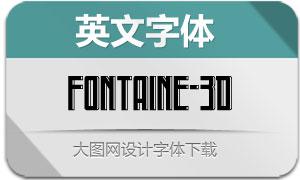Fontaine-3D(英文字体)