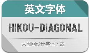 Hikou-Diagonal(英文字体)