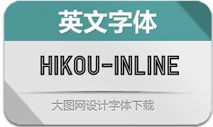 Hikou-Inline(英文字体)