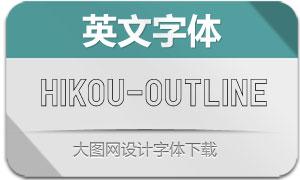 Hikou-Outline(英文字体)
