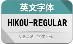 Hikou-Regular(英文字体)