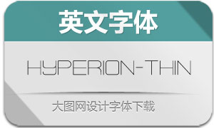Hyperion-Thin(英文字体)
