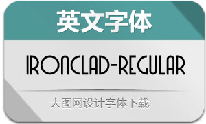 Ironclad-Regular(英文字体)