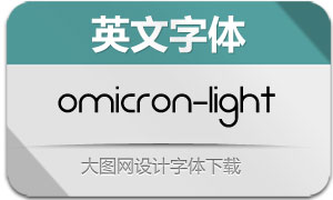 Omicron-Light(英文字体)
