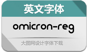 Omicron-Regular(英文字体)