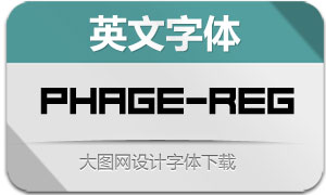 Phage-Regular(英文字体)