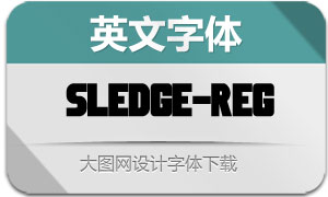 Sledge-Regular(英文字体)