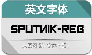 Sputnik-Regular(英文字体)