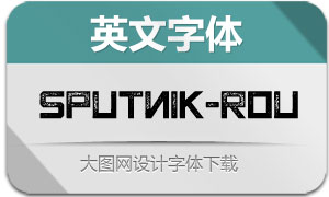 Sputnik-Rough(英文字体)
