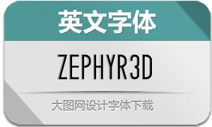 Zephyr-3D(英文字体)
