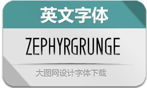 ZephyrGrunge(英文字体)