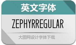 Zephyr-Regular(英文字体)