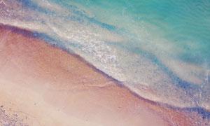 在海边潮起潮落的海景摄影高清图片