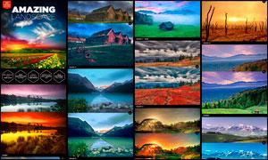 20款专业级风景大片效果PS调色动作